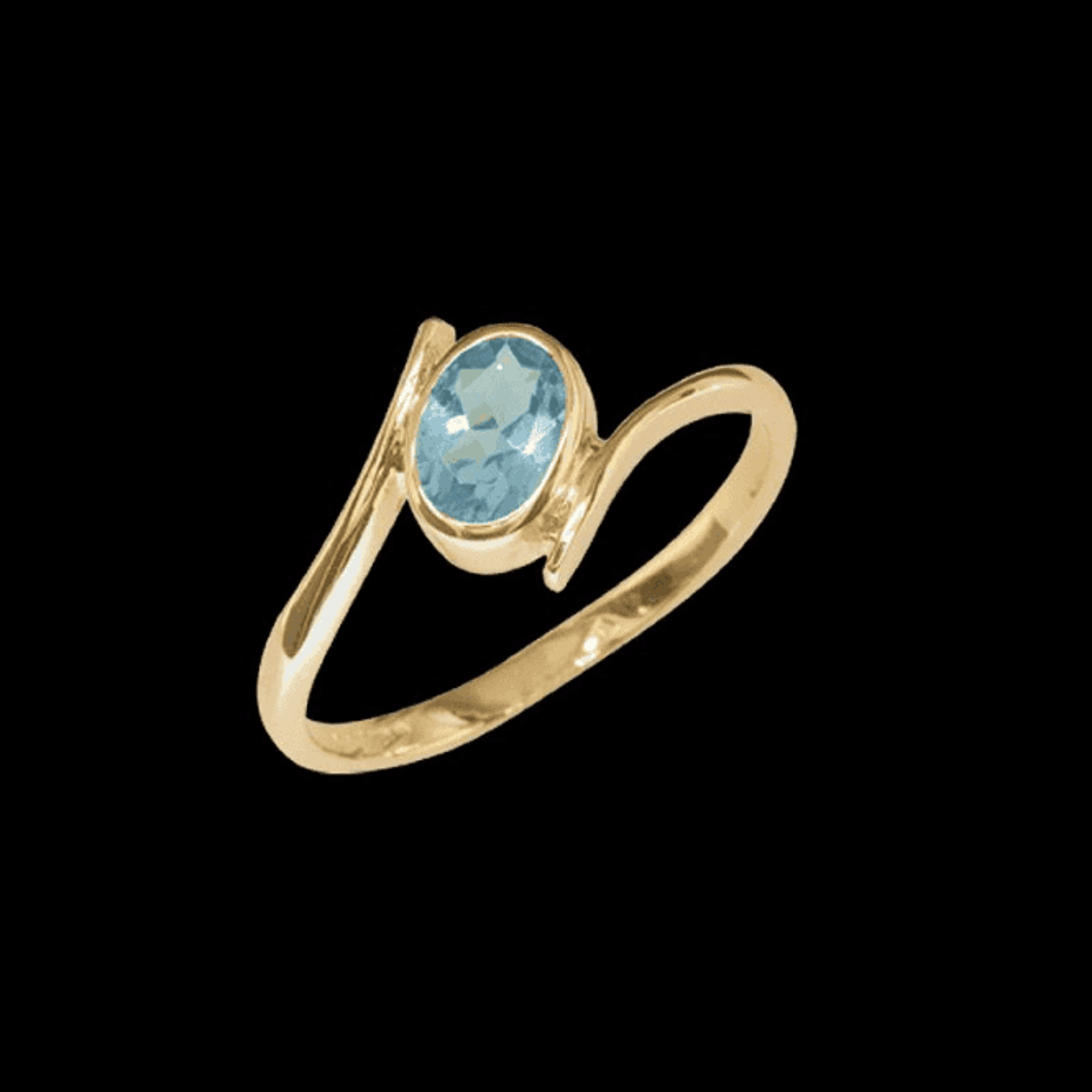 Ring 9ct 1612 Aquamarine