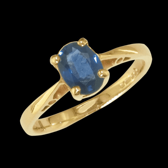Ladies Shipton and Co Exclusive 9ct Yellow Gold and Blue Sapphire Ring RY2211BS2