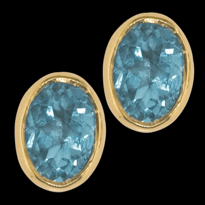 Shipton and Co Earring 9ct 1172 Blue Topaz