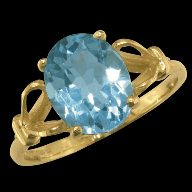 Ladies Shipton and Co Exclusive 9ct Yellow Gold and Blue Topaz Ring RY1178BT