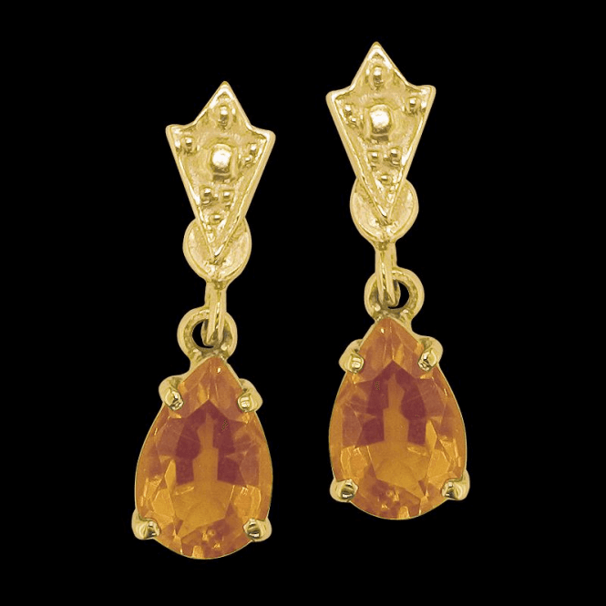 Ladies Shipton and Co Exclusive 9ct Yellow Gold and Citrine Earrings EY0981CI