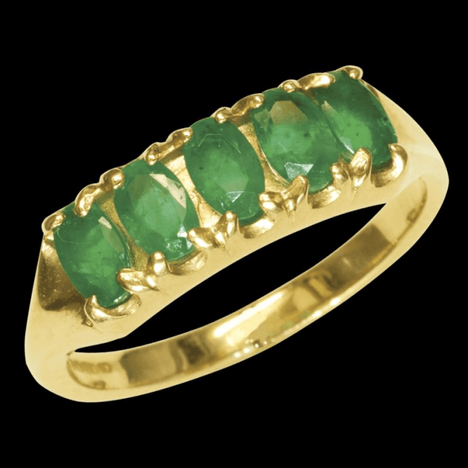 The Companion Ring Exclusively from Shipton & Co. These Superior Emeralds are set in a Weighty Gold Mount