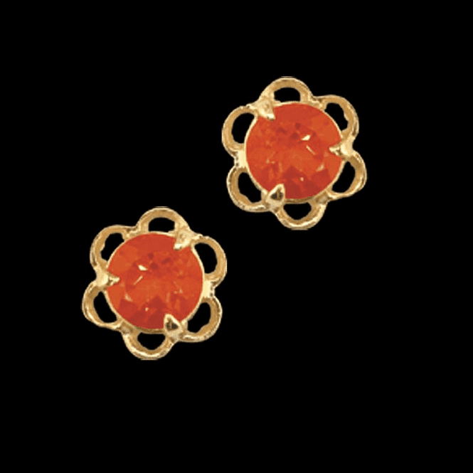 Shipton and Co Ladies Shipton and Co Exclusive 9ct Yellow Gold and Fire Opal  Earrings EY0035FO