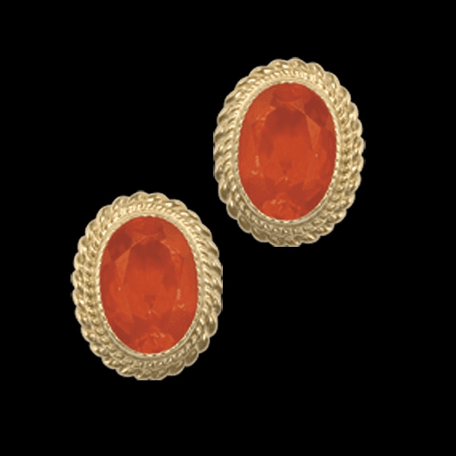 Ladies Shipton and Co Exclusive 9ct Yellow Gold and Fire Opal Earrings EY1000FO