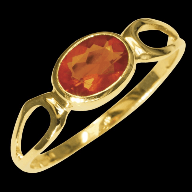 Shipton and Co Ladies Shipton and Co Exclusive 9ct Yellow Gold and Fire Opal  Ring RY1190FO