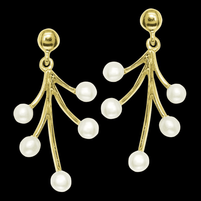 Ladies Shipton and Co Exclusive 9ct Yellow Gold and Freshwater Pearls Earrings EYG008FP1
