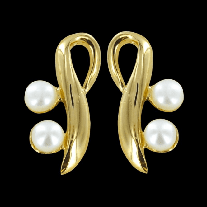 Shipton and Co Ladies Shipton and Co Exclusive 9ct Yellow Gold and Freshwater Pearls Earrings EYG017FP1