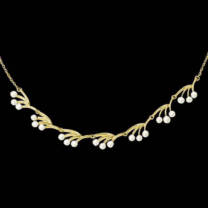 Shipton and Co Ladies Shipton and Co Exclusive 9ct Yellow Gold and Freshwater Pearls Necklace NYG004FP1
