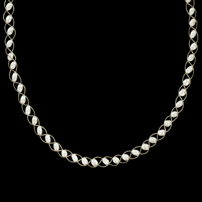 Ladies Shipton and Co Exclusive 9ct Yellow Gold and Freshwater Pearls Necklace TFI314FP