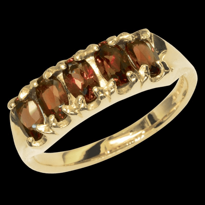 Shipton and Co Ladies Shipton and Co Exclusive 9ct Yellow Gold and Garnet  Ring RY1176GR