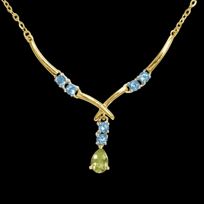 Shipton and Co Ladies Shipton and Co Exclusive 9ct Yellow Gold and Multiple Stone Peridot Necklace NYG002MU3