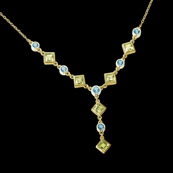 Shipton and Co Ladies Shipton and Co Exclusive 9ct Yellow Gold and Multiple Stone, Peridot Necklace NYG007MU3