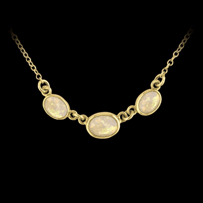 Ladies Shipton and Co Exclusive 9ct Yellow Gold and Opal Necklace NY1210OP
