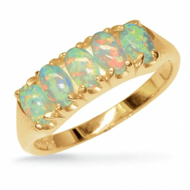 Ladies Shipton and Co Exclusive 9ct Yellow Gold and Opal Ring RY1176OP