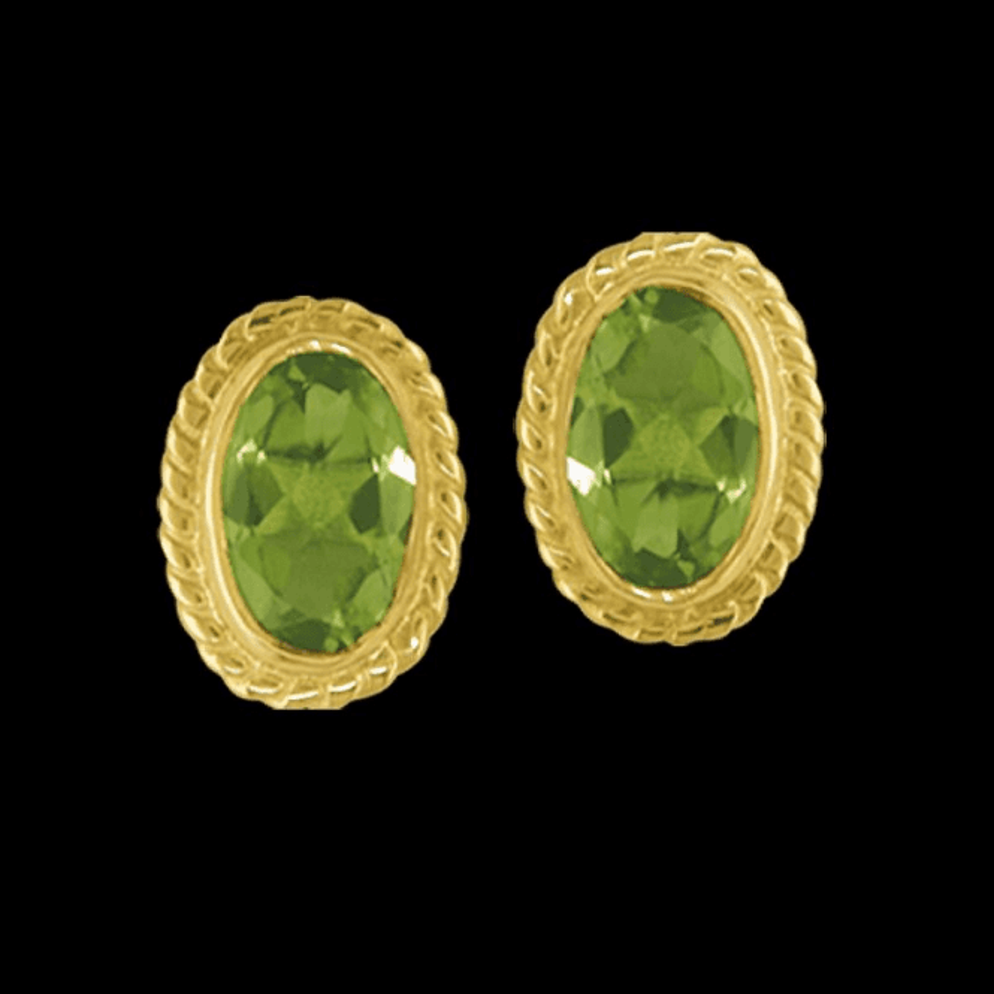 Earring 9 Ct 0980 Peridot