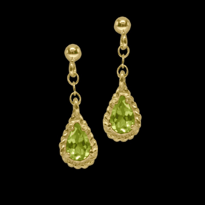 Shipton and Co Earring 9 Ct 1264 Peridot