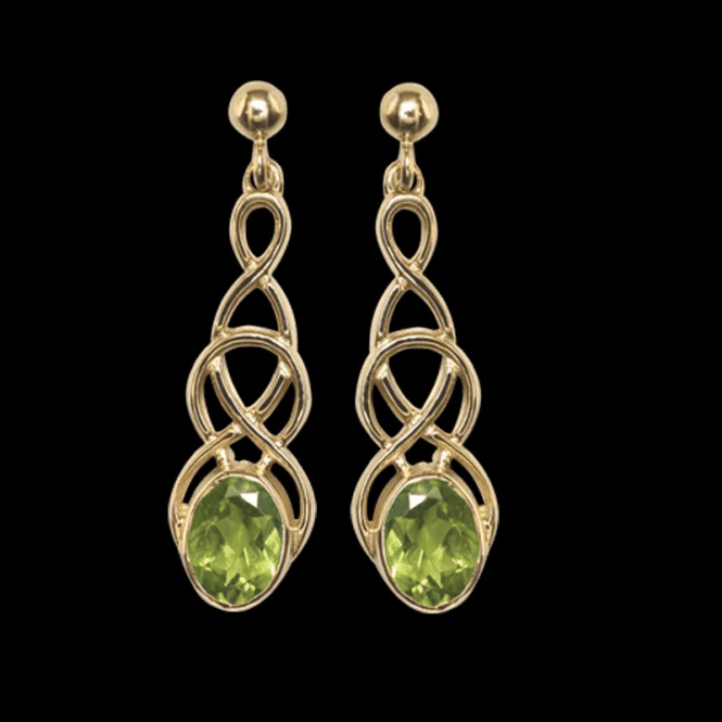Shipton and Co Ladies Shipton and Co Exclusive 9ct Yellow Gold and Peridot Earrings EY1866PE