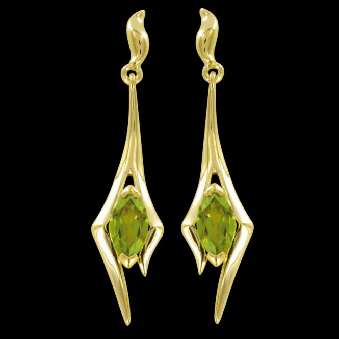 Ladies Shipton and Co Exclusive 9ct Yellow Gold and Peridot Earrings EYG016PE