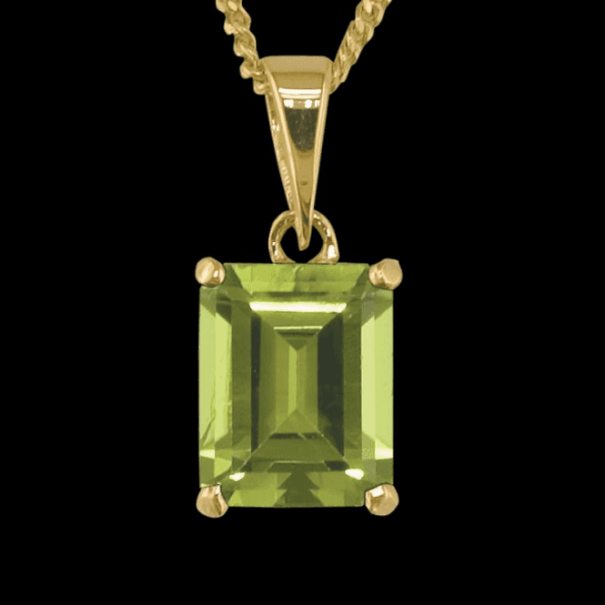 Shipton and Co Ladies Shipton and Co Exclusive 9ct Yellow Gold and Peridot Pendant including a 16 9ct Chain PY1592PE