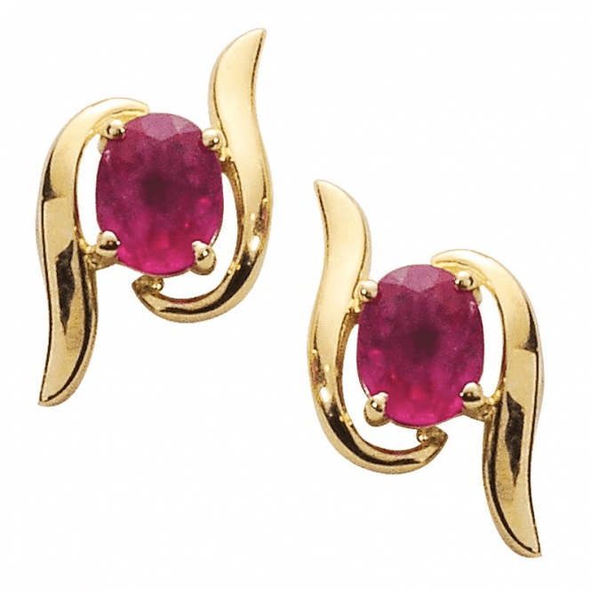 Ruby Scroll Earrings