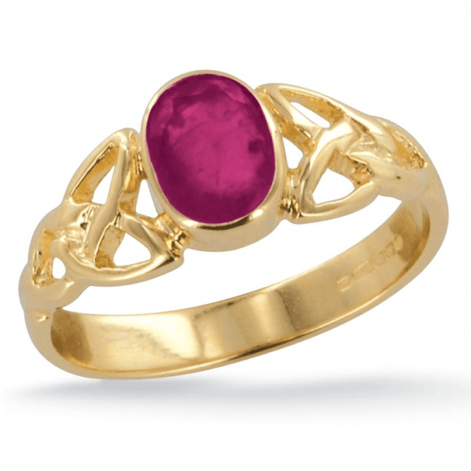 Shipton and Co Ladies Shipton and Co Exclusive 9ct Yellow Gold and Ruby Ring RY1769RU