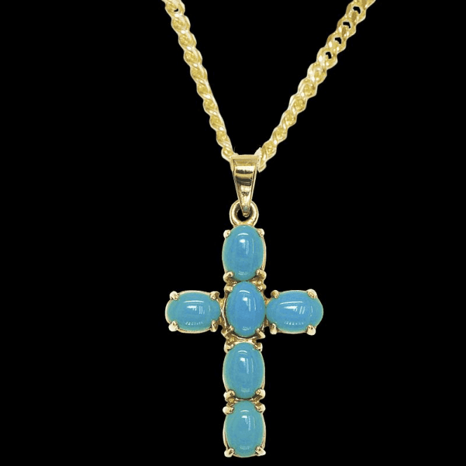 Shipton and Co Pendant 9ct 1460 Turquoise