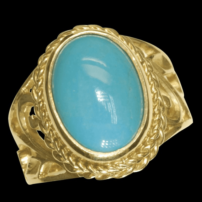 Shipton and Co Ladies Shipton and Co Exclusive 9ct Yellow Gold and Turquoise Ring RY1193TQ