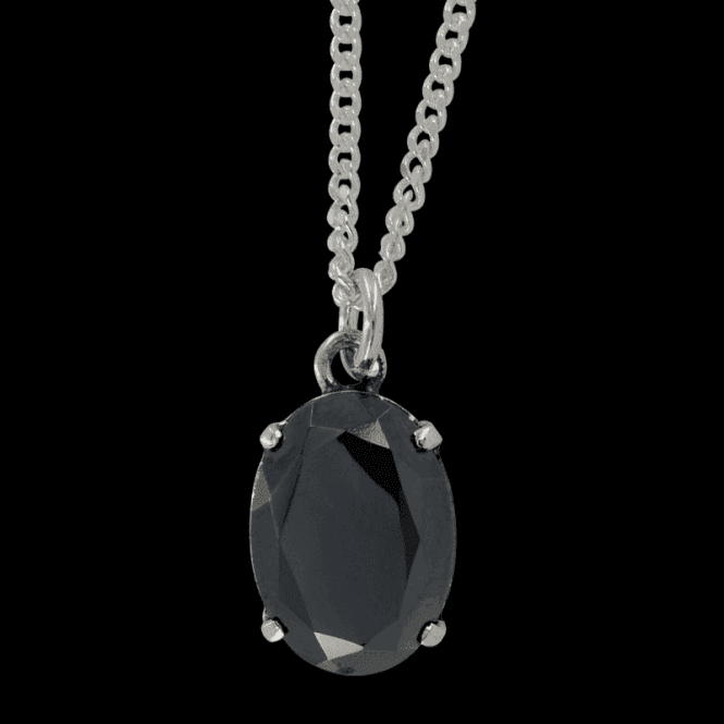 Ladies Shipton and Co Silver and Hematite Pendant including a 16 Silver Chain PQ0831HM