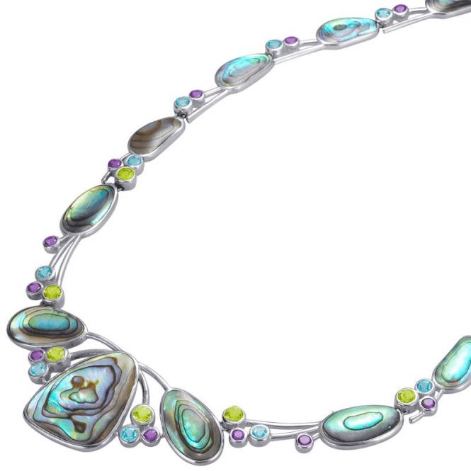 South Sea Suite of Paua Shell & Precious Gemstones
