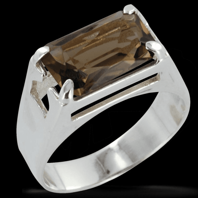 Shipton and Co Ladies Shipton and Co Exclusive Silver and Large Smokey Quartz Ring RQ1010SQ