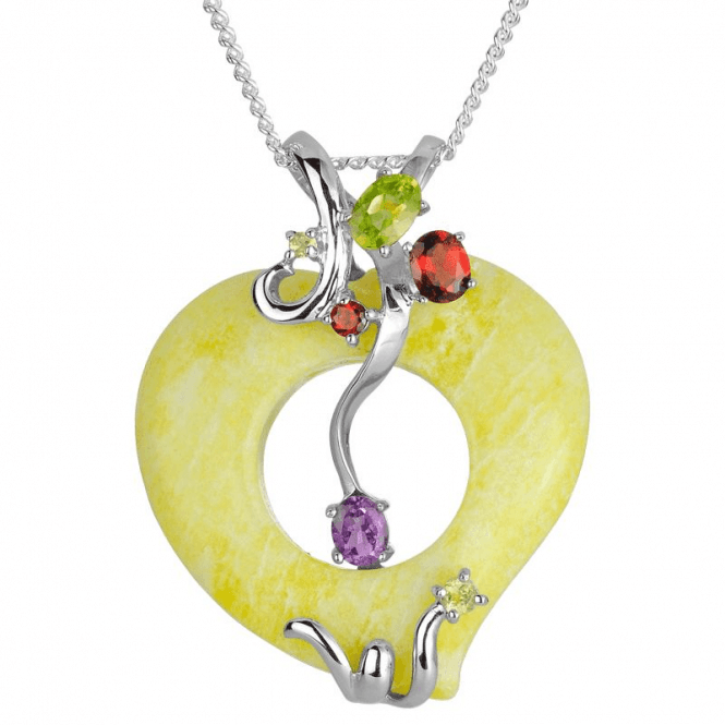 Mythology Pendant of Jewelled Lemon Stone