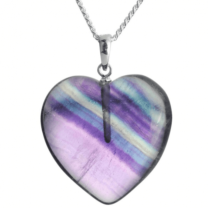 """Ladies Shipton and Co Exclusive Silver and Flourite Pendant including a 16"""" Silver Chain TSS122FL"""
