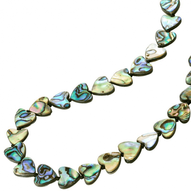 Ladies Shipton and Co Silver Shimmering Hearts of Paua Shell Beads BYY003PA