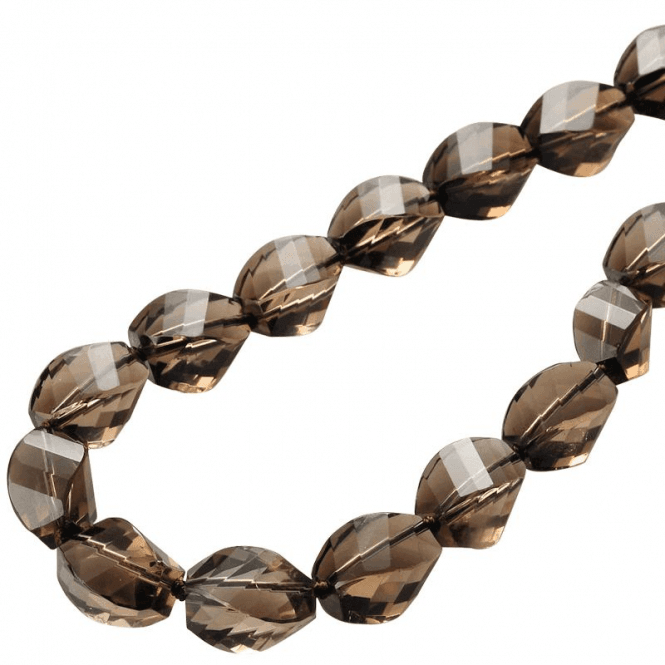 Ladies Shipton and Co Silver and Smokey Quartz Bead Necklace BKC001SQ