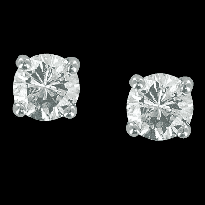 Shipton and Co Ladies Shipton and Co Exclusive 9ct White Gold Half Diamond Earrings TBJ039DI