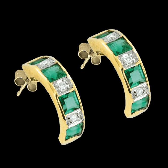 Diamonds and Emerald earrings