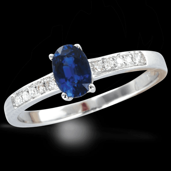 Exclusive White Gold Sapphire & Diamond Firenze Ring