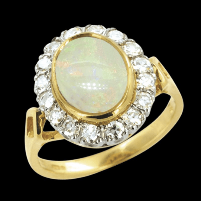 Ladies Shipton and Co Exclusive 18ct Yellow Gold and Opal Ring RZ1097OP