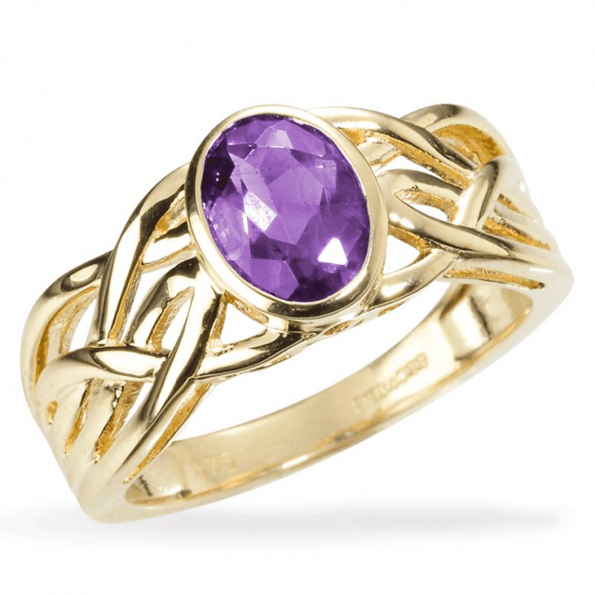 Ladies Shipton and Co Exclusive 9ct Yellow Gold and Amethyst Ring RYG035AM