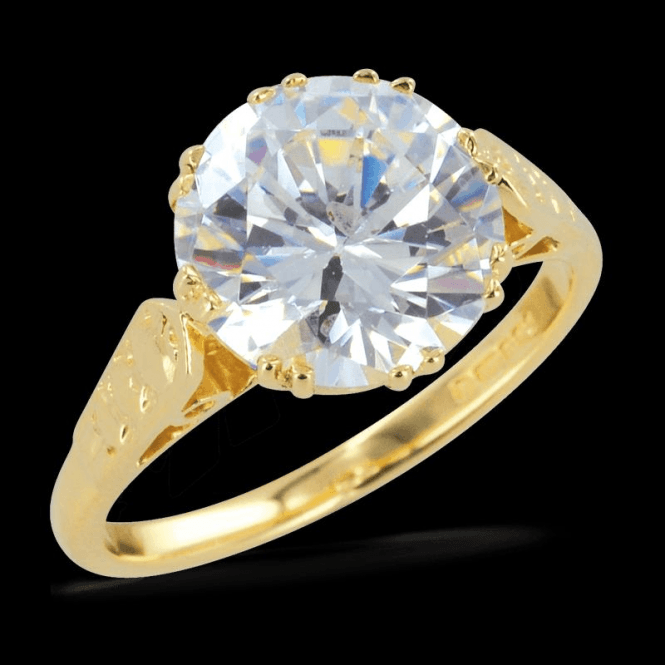 Ladies Shipton and Co Exclusive 9ct Yellow Gold and Cubic Zirconia Ring RY0105CZ