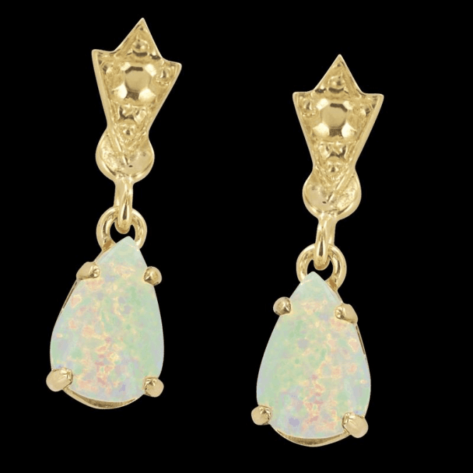 Ladies Shipton and Co Exclusive 9ct Yellow Gold and Opal Earrings EY0981OP