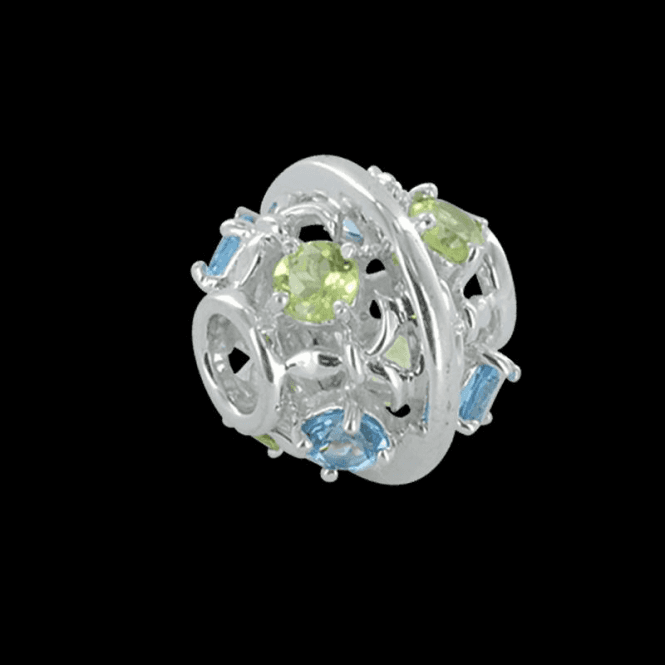 Shipton and Co Ladies Shipton and Co Silver Blue Topaz and Peridot Charm DQA250MU3