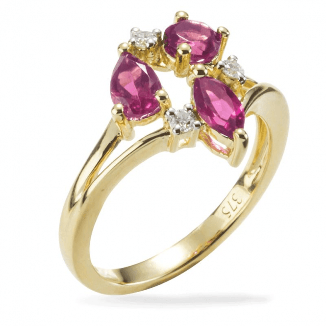 Belle Dame 1.16cts Ring of Rare Pink Tourmaline & Diamonds