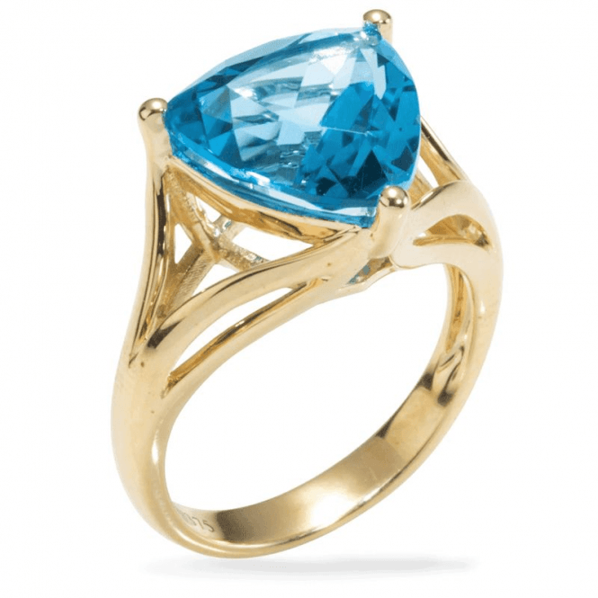 Shipton and Co Ladies Shipton and Co Exclusive 9ct Yellow Gold and Blue Topaz Ring RYG044BT