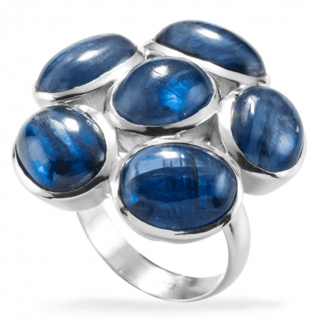Shipton and Co Ladies Shipton and Co Silver and Six Oval Kyanite Cabochons Ring TMO001KY