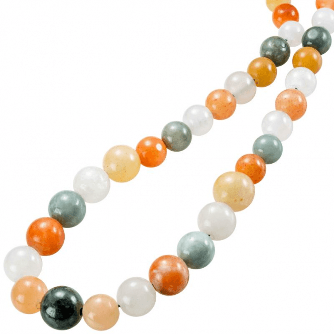 "30"" String of Rare Jade Rainbow Beads"