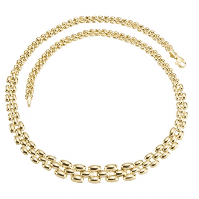 Shipton and Co Ladies Shipton and Co 9ct Yellow Gold Tapered Panther Necklace TAR518NS