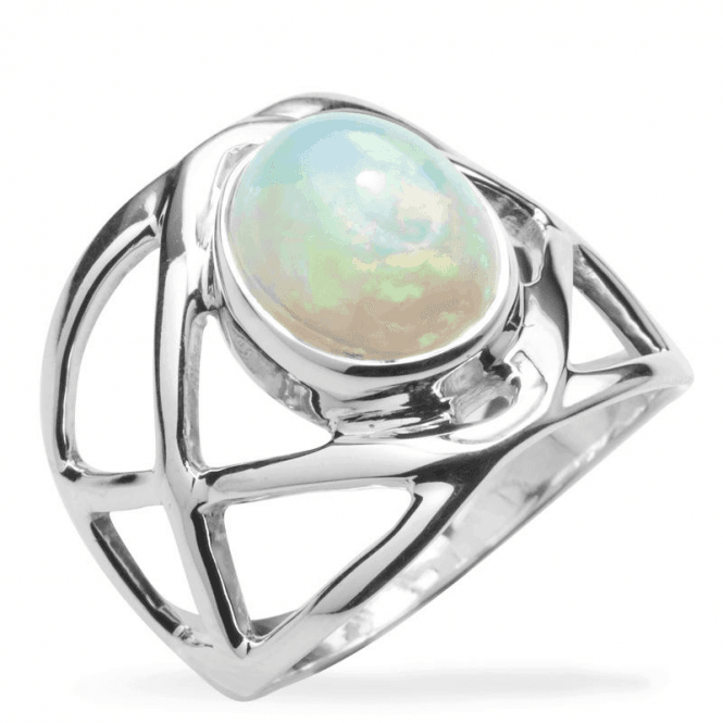 Mystical Ring of Ancient Abyssinian Opal