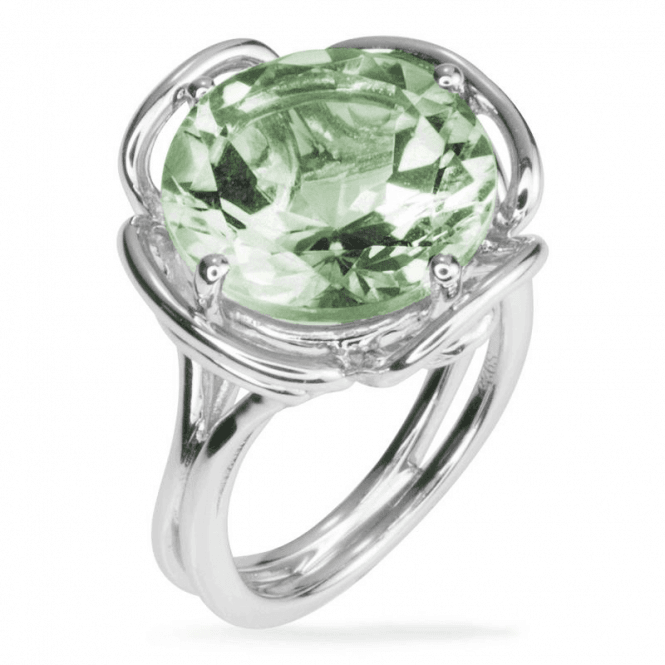 Shipton and Co Ladies Shipton and Co Silver and Green Amethyst  Ring RQA342GM