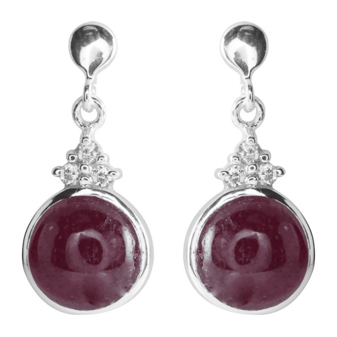 Perfect Circles of Ruby in Smooth Domed Cabochons
